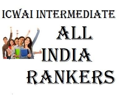 icwai intermediate rankers