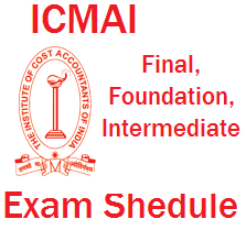 ICMAI Final exam schedule