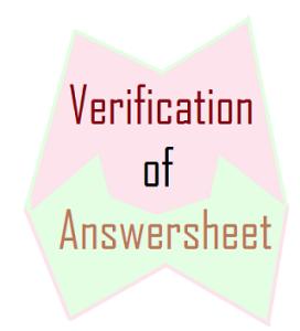 verification of answersheets