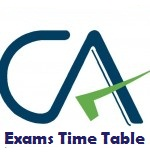 ca exam time table