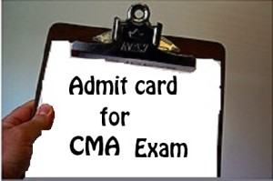 admit card for cma