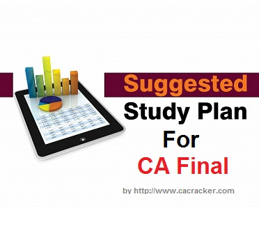 study plan for ca final