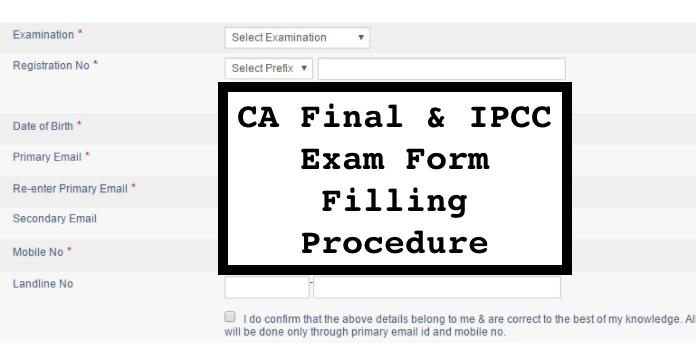 ipcc exam form