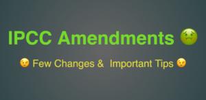 IPCC Amendments for nov 2017