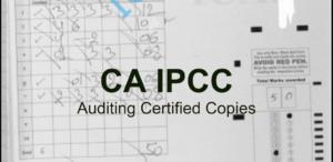 CA IPCC Auditing Certified Copies