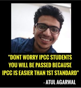 atul agarwal ipcc result meme